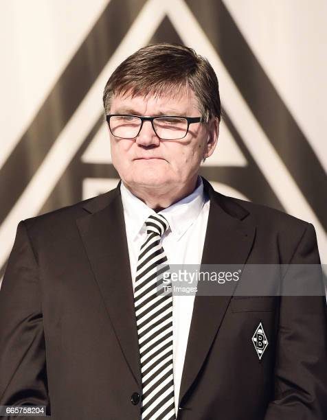 Hans Meyer is seen during the Borussia Mönchengladbach Annual Meeting at the Borussia Park on April 3 2017 in Moenchengladbach Germany