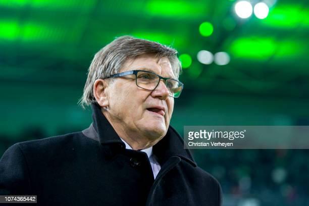Hans Meyer of Borussia Moenchengladbach is seen before the Bundesliga match between Borussia Moenchengladbach and 1FC Nuernberg at BorussiaPark on...