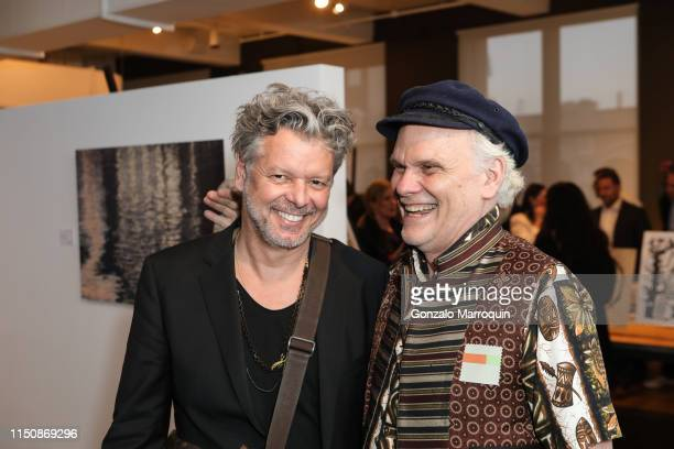 Hans Neleman and Tucker Robbins during the The Thorn Tree Project Benefit Art Sale At Clodagh Design- at Clodagh Design Studio on May 21, 2019 in New...