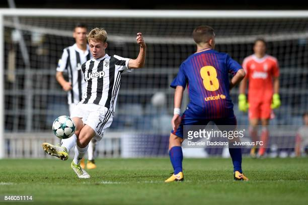 Hans Nicolussi Caviglia during the UEFA Youth League match between FC Barcelona and Juventus at on September 12 2017 in Barcelona Spain