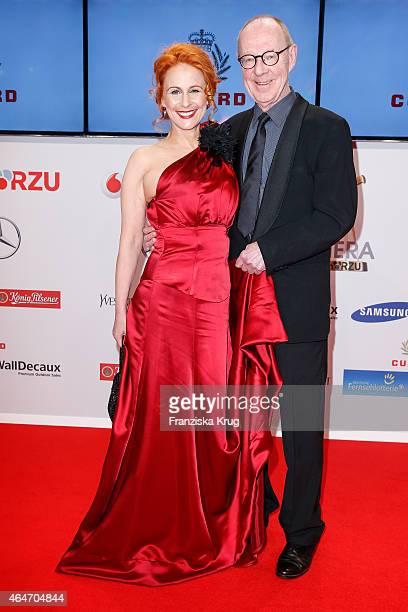 Hans Peter Korff and Christiane Leuchtmann attend the Goldene Kamera 2015 on February 27 2015 in Hamburg Germany