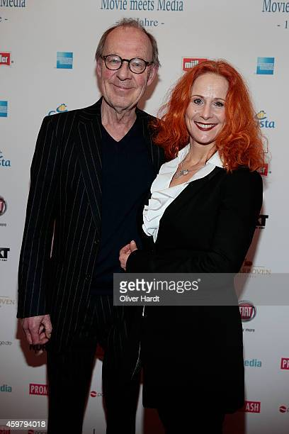 Hans Peter Korff and his wife Christiane Leuchtmann poses during the event 'Movie Meets Media' at Hotel Atlantic on December 1, 2014 in Hamburg,...