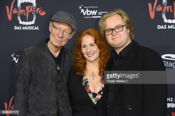Hans Peter Korff, his wife Christiane Leuchtmann and his son Johannes Korff attend the 'Tanz der Vampire' Musical Premiere at Stage Theater on...