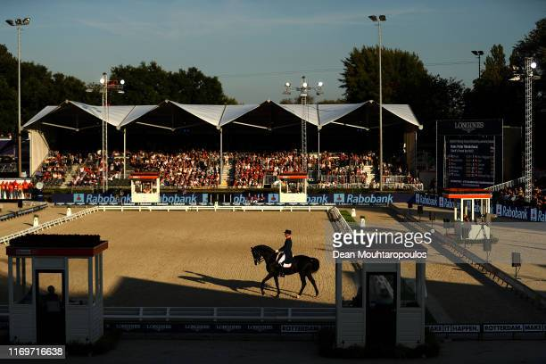 Hans Peter Minderhoud of Netherlands riding Glock's Dream Boy N.O.P. Competes during Day 4 of the Longines Grand Prix Special FEI Dressage European...