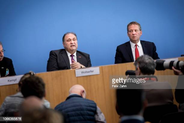 Hans Peter Wollseifer President of the Central Association of German Crafts is pictured during a press conference on November 29 2018 in Berlin...