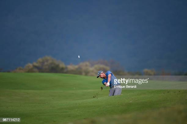 Hans Reimers of the United States hits from the ninth fairway during the third round of the PGA TOUR Latinoamérica Guatemala Stella Artois Open at La...