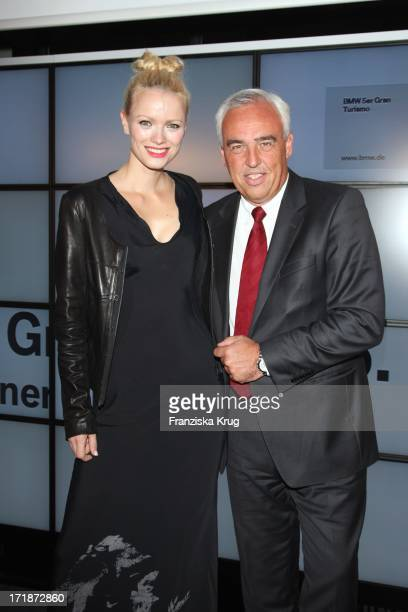Hans Reiner Schroeder and Franziska Knuppe at the Premiere Of Germany BMW 5 Series Gran Turismo in Berlin