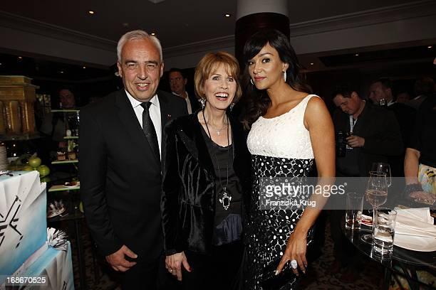 Hans Reiner Schroeder Dr Christa Maar and Verona Pooth In the 10 Anniversary Of The Felix Burda Award Hotel Adlon in Berlin