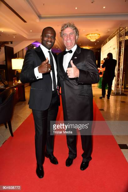 Hans Sarpei and Jean Marie Pfaff attend the 117th Press Ball on January 13 2018 in Berlin Germany