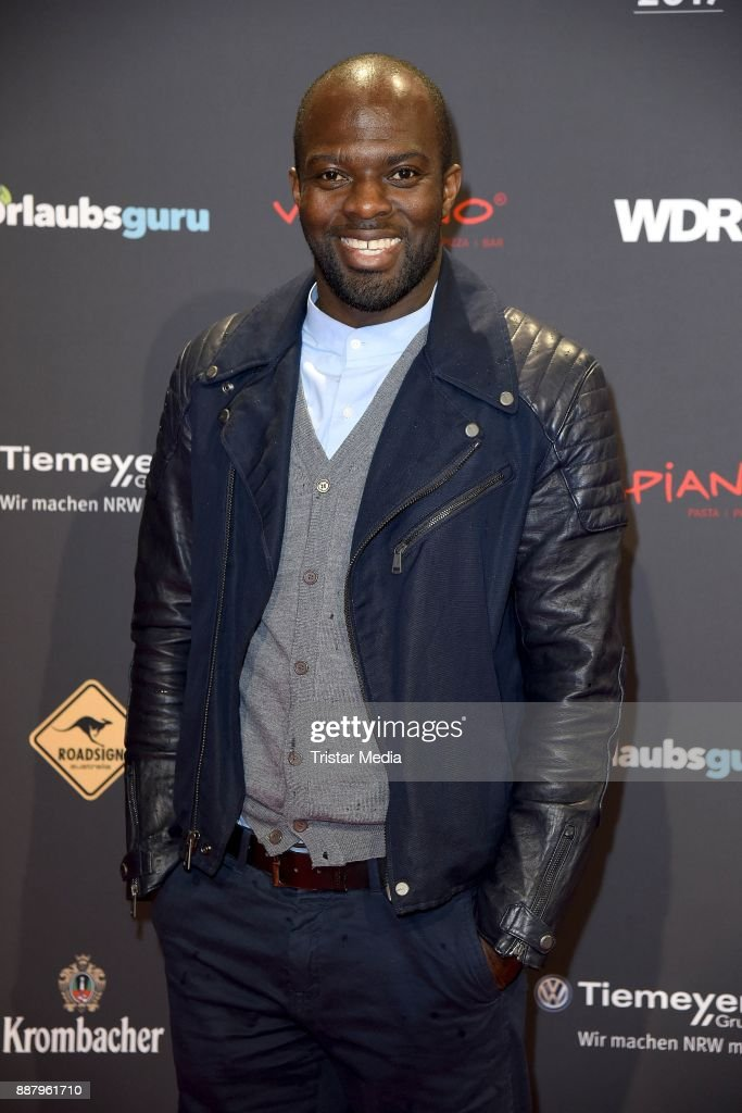 Hans Sarpei attends the 1Live Krone radio award at Jahrhunderthalle on December 7, 2017 in Bochum, Germany.