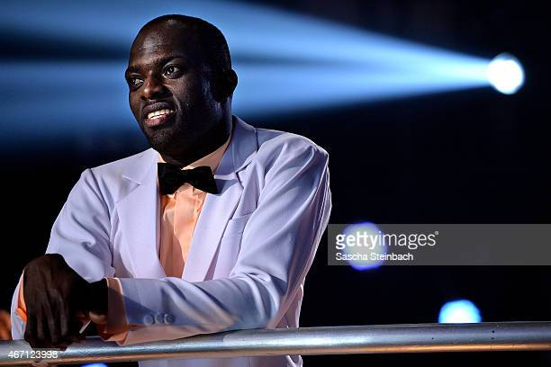 Hans Sarpei looks on during the 2nd show of the television competition 'Let's Dance' on March 20 2015 in Cologne Germany