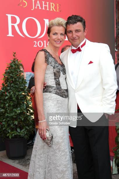 Hans Sigl and his wife Susanne attend the 25th Romy Award 2014 at Hofburg Vienna on April 26 2014 in Vienna Austria