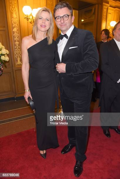 Hans Sigl and his wife Susanne Kemmler during the Semper Opera Ball 2017 at Semperoper on February 3, 2017 in Dresden, Germany.