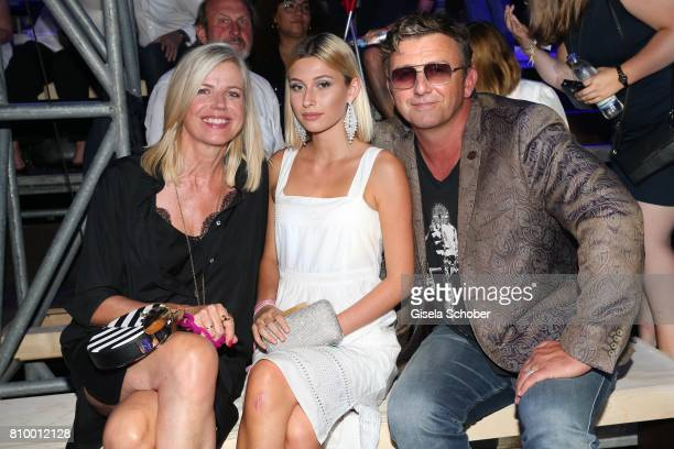 Hans Sigl and his wife Susanne Sigl and step daughter Joana during the 50th anniversary celebration of Marc O'Polo at its headquarters on July 6 2017...
