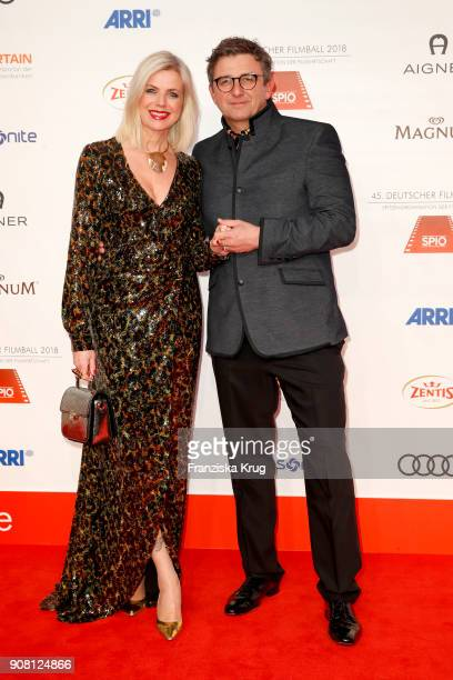 Hans Sigl and his wife Susanne Sigl attend the German Film Ball 2018 at Hotel Bayerischer Hof on January 20, 2018 in Munich, Germany.