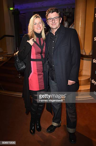 Hans Sigl and his wife Susanne Sigl attend the German premiere of the tv show 'Altes Geld' at Hotel Bayerischer Hof on January 26 2016 in Munich...