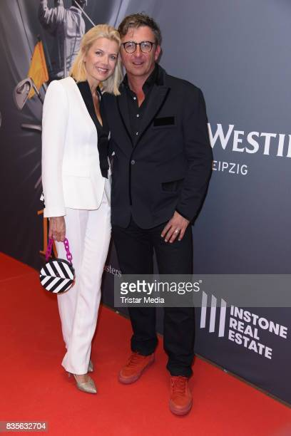 Hans Sigl and his wife Susanne Sigl attend the GRK Golf Charity Masters evening gala on August 19, 2017 in Leipzig, Germany.