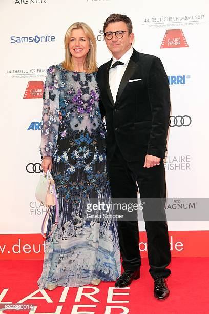 Hans Sigl and his wife Susanne Sigl during the 44th German Film Ball 2017 arrival at Hotel Bayerischer Hof on January 21 2017 in Munich Germany
