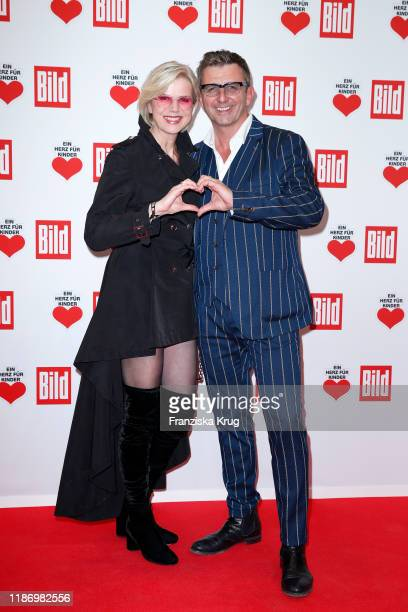 Hans Sigl and his wife Susanne Sigl during the Ein Herz Fuer Kinder Gala at Studio Berlin Adlershof on December 7, 2019 in Berlin, Germany.
