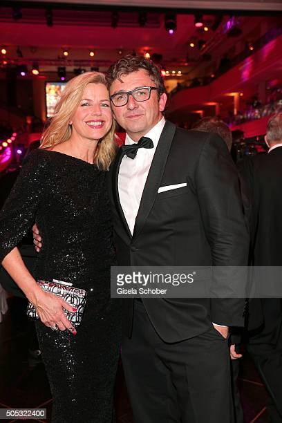Hans Sigl and his wife Susanne Sigl during the German Film Ball 2016 party at Hotel Bayerischer Hof on January 16 2016 in Munich Germany
