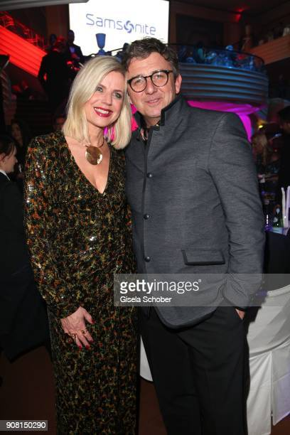 Hans Sigl and his wife Susanne Sigl during the German Film Ball 2018 party at Hotel Bayerischer Hof on January 20, 2018 in Munich, Germany.