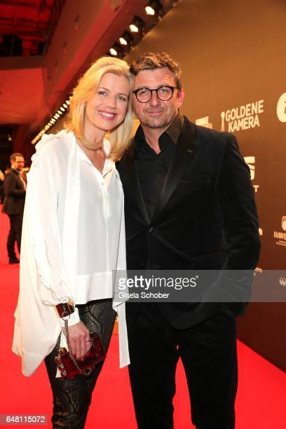 Hans Sigl and his wife Susanne Sigl during the Goldene Kamera reception at Messe Hamburg on March 4 2017 in Hamburg Germany