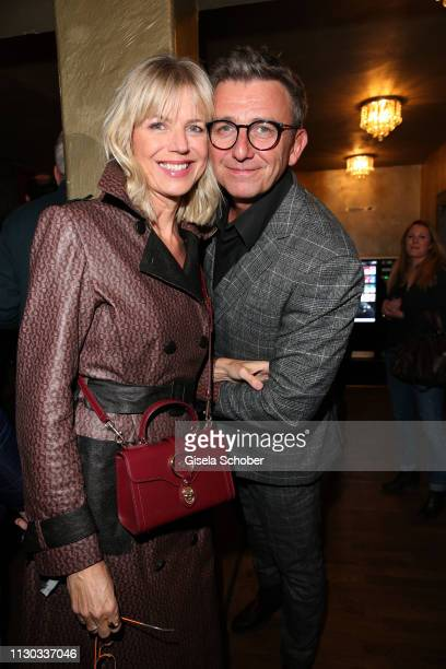 Hans Sigl and his wife Susanne Sigl during the NdF after work press cocktail at Parkcafe on March 13 2019 in Munich Germany