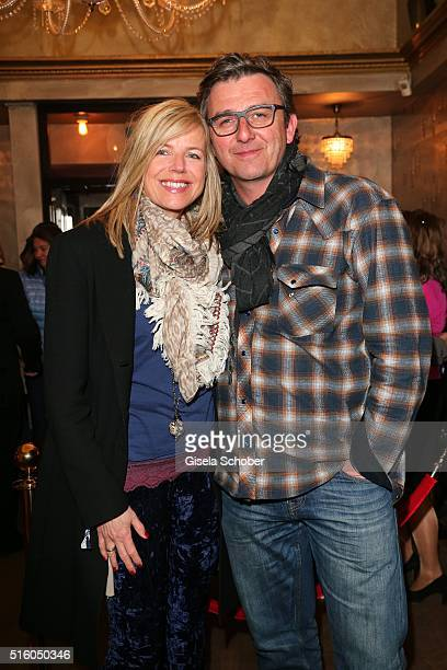 Hans Sigl and his wife Susanne Sigl during the NdF after work press cocktail 2016 at Park Cafe on March 16 2016 in Munich Germany