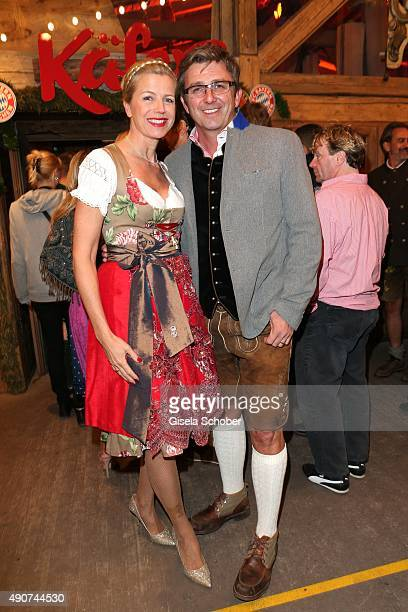Hans Sigl and his wife Susanne Sigl during the Oktoberfest 2015 at Kaeferschaenke / Theresienwiese on September 30 2015 in Munich Germany