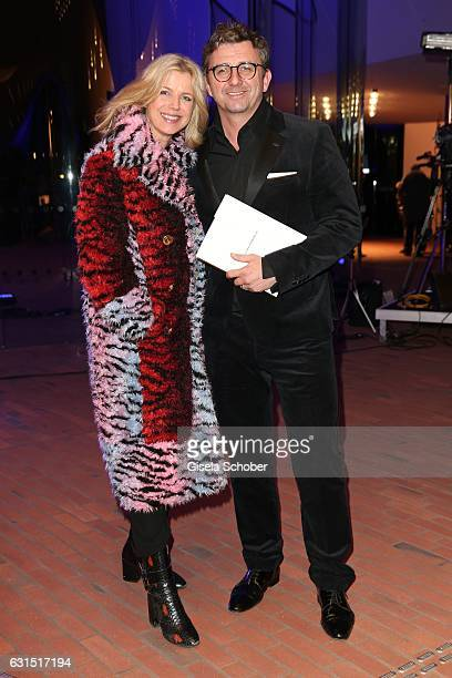 Hans Sigl and his wife Susanne Sigl during the opening concert of the Elbphilharmonie concert hall on January 11 2017 in Hamburg Germany