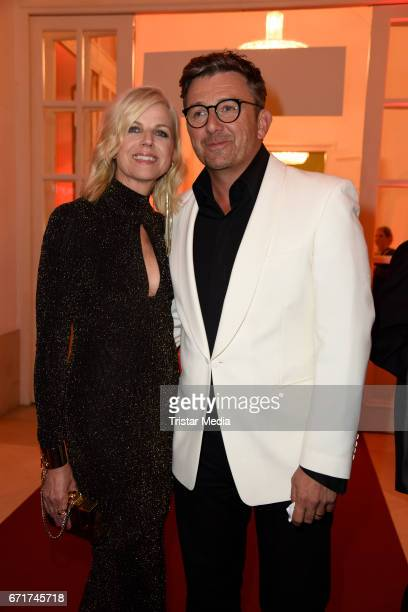 Hans Sigl and his wife Susanne Sigl during the ROMY award at Hofburg Vienna on April 22, 2017 in Vienna, Austria.