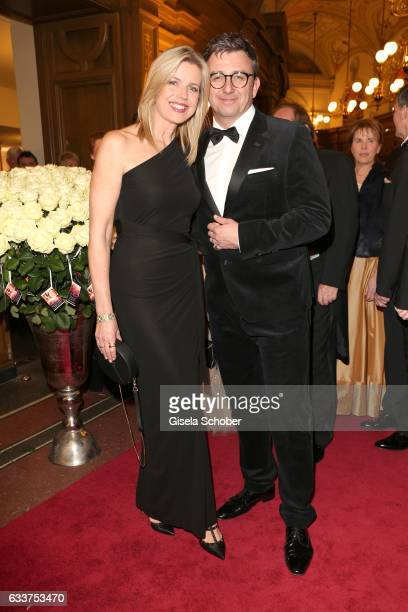 Hans Sigl and his wife Susanne Sigl during the Semper Opera Ball 2017 at Semperoper on February 3 2017 in Dresden Germany