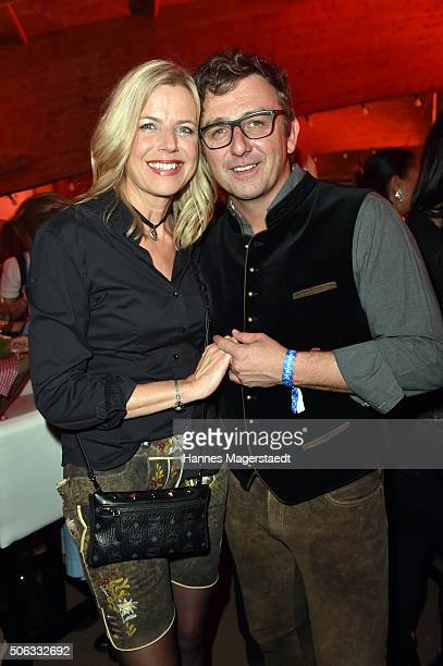 Hans Sigl and Susanne Sigl during the Weisswurstparty at Hotel Stanglwirt on January 22 2016 in Going Austria