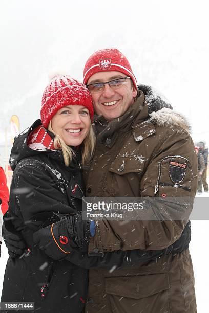 Hans Sigl and wife Susanne Celebrity Tirol Cross Mountain sled dog race in Kühtai