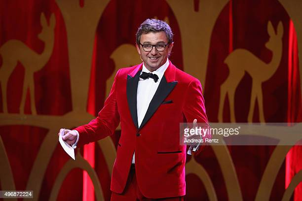 Hans Sigl is seen on stage during the Bambi Awards 2015 show at Stage Theater on November 12 2015 in Berlin Germany