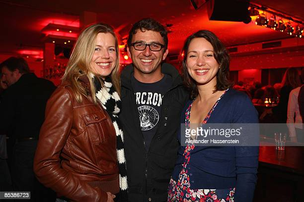 Hans Sigl, Susanne Sigl and Nike Fuhrmann attend the NdF After Work Party at the 8Seasons Club on March 11, 2009 in Munich, Germany.