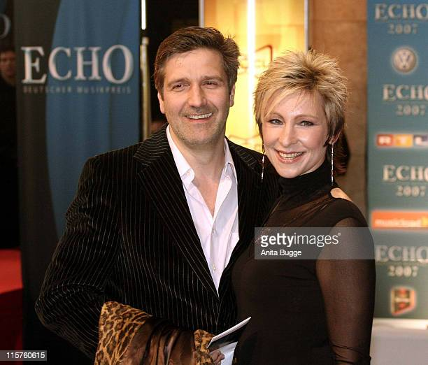 Hans Singer and Claudia Jung during 2007 Echo Awards Red Carpet at Palais am Funkturm in Berlin Berlin Germany