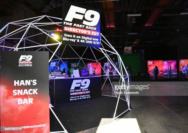 """Han's Snack Bar """"orb"""" at the F9 Fest event on the Universal Studios backlot celebrating F9: The Fast Saga on September 15, 2021 in Universal City,..."""