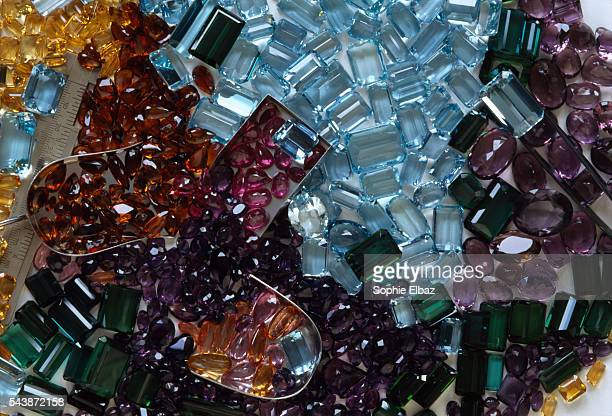Hans Stern's company whose headquarters are in Rio is directly involved in the various stages of gem and jewelry production Examples of cut gems...