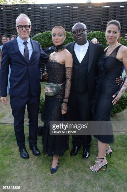 Hans Ulrich Obrist Adwoa Aboah Edward Enninful and Yana Peel attend the annual summer party in partnership with Chanel at The Serpentine Pavilion on...