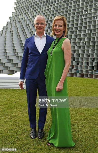 Hans Ulrich Obrist and Julia PeytonJones attend The Serpentine Summer Party cohosted by Tommy Hilfiger on July 6 2016 in London England