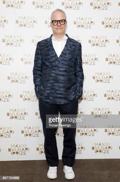 Hans Ulrich Obrist attends The Maxxi Bvlgari Prize press conference at Bulgari Hotel on October 3 2017 in London England