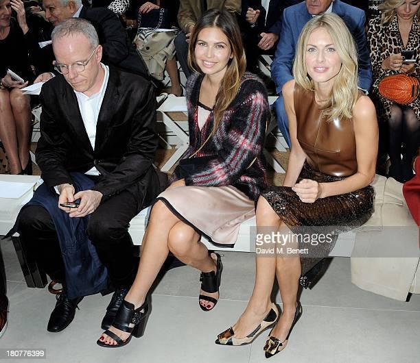 Hans Ulrich Obrist Dasha Zhukova and Donna Air attend the front row at Burberry Prorsum Womenswear Spring/Summer 2014 show during London Fashion Week...