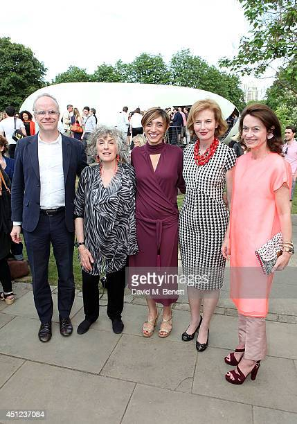Hans Ulrich Obrist Eleanor Bron Lorenza Baroncelli Julia PeytonJones and Corinne Flick attend a private view of The Serpentine Gallery's summer...