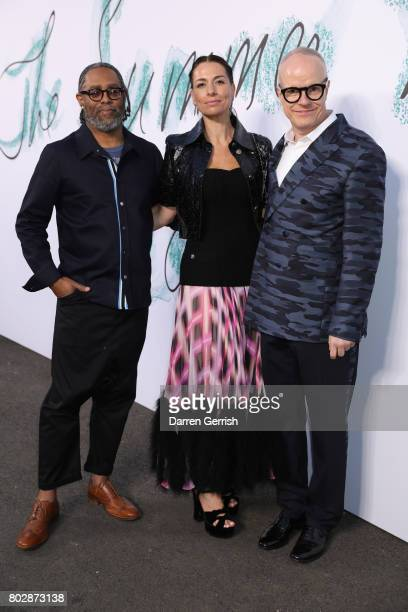 Hans Ulrich Obrist Yana Peel and Arthur Jafa attends the Summer Party 2017 presented by Serpentine and Chanel at The Serpentine Gallery on June 28...