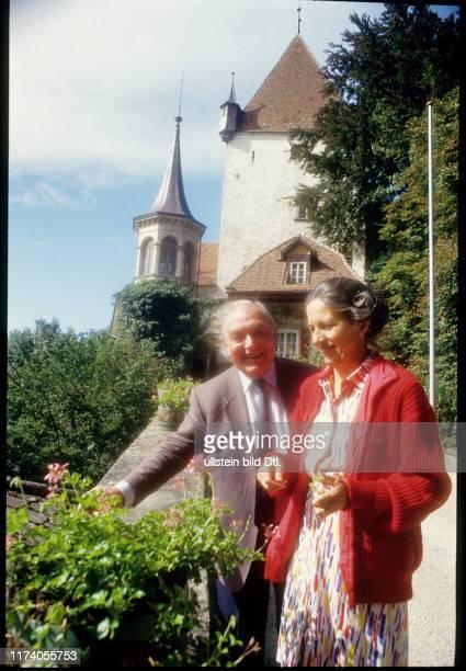Hans und Eva Seelhofer Besitzer von Schloss Worb 1992