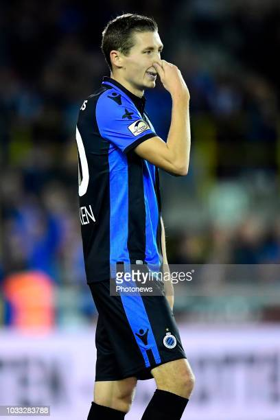 Hans Vanaken midfielder of Club Brugge looks dejected after missing an opportunity during the Jupiler Pro League match between Club Brugge and KSC...