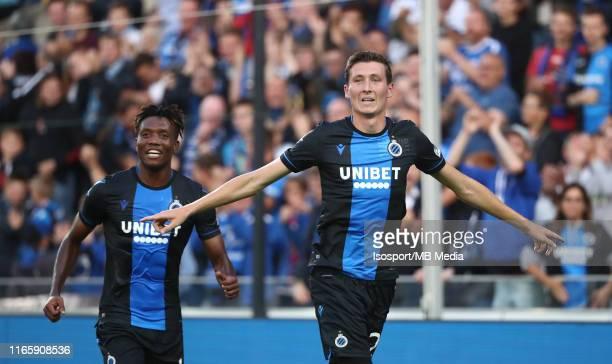Hans Vanaken of Club Brugge celebrates after scoring a goal during the Jupiler Pro League match between Club Brugge KV and Sint-Truidense VV at Jan...