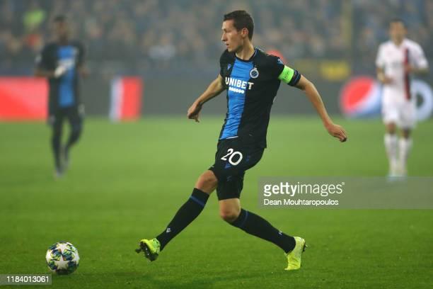 Hans Vanaken of Club Brugge KV in action during the UEFA Champions League group A match between Club Brugge KV and Paris Saint-Germain at Jan Breydel...