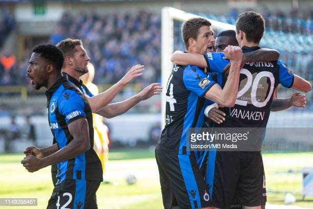 Hans Vanaken of Club Brugge scores and celebrates during the Jupiler Pro League playoff 1 match between Club Brugge and Krc Genk at Jan Breydel...